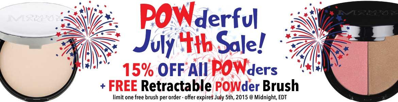 POWderful July 4th Sale! 15% off powders + FREE Retractable Powder Brush