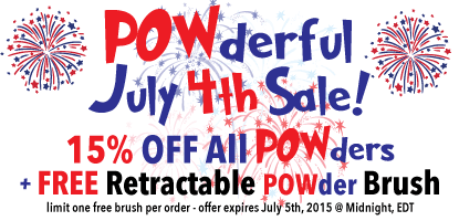 POWderful July 4th Sale! 15% off powders + FREE Retractable Powder Brush