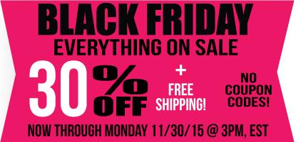 Black Friday 30% Off!